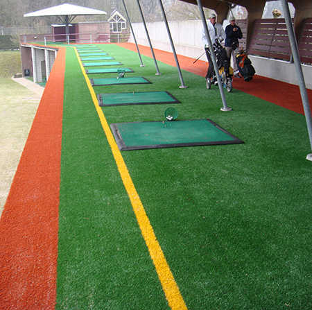 Myview Golf Tee line turf